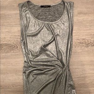 Forever 21 Silver High-Low Dress